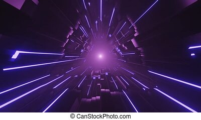 Accelerated Dim Power Space Portal 4k uhd 3d rendering vj ...