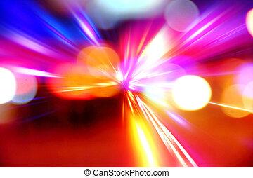 accelerazione, astratto, movimento, notte, velocità, strada