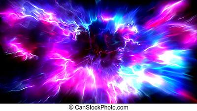 accelerazione, flash., iper, esplosione, raggiante, space., corsa, esterno, ?olorful, velocità, astratto, futuristico