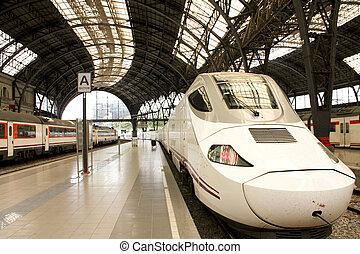 accelerer højeste, train., tgv.