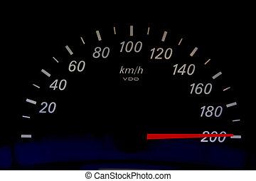 accelerera högt