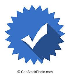 accept blue flat icon