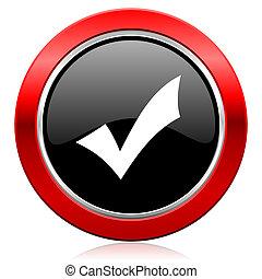 accept icon check sign