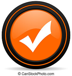 accept orange icon check sign