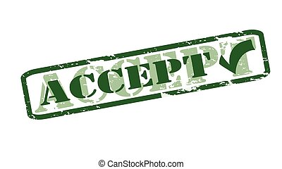 Accept - Rubber stamps with word accept inside, vector...