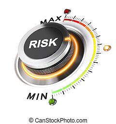 Acceptable Level of Risk - Risk level knob positioned on...