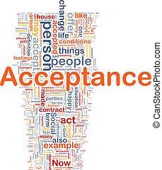 Acceptance background concept - Background concept wordcloud...