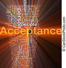Acceptance background concept glowing - Background concept...