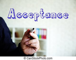 Acceptance phrase on the page.