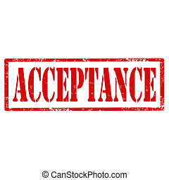 Acceptance-stamp - Grunge rubber stamp with text...