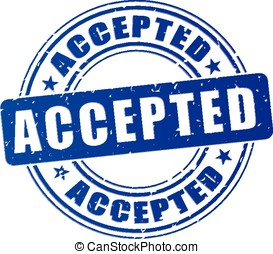 accepted blue stamp