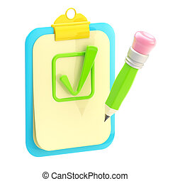 accepted: clipboard and pencil