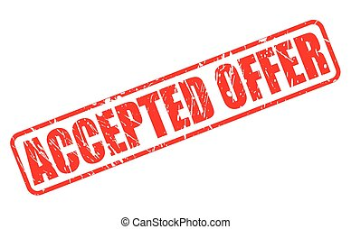 ACCEPTED OFFER RED STAMP TEXT