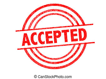ACCEPTED Rubber Stamp