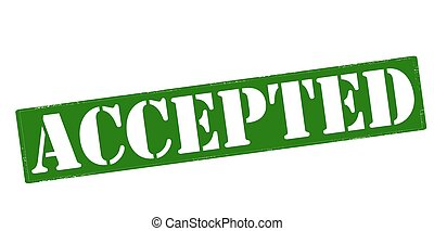 Accepted - Rubber stamp with word accepted inside, vector ...