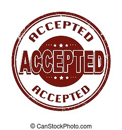 accepted stamp - accepted grunge stamp with on vector ...