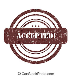 Accepted stamp illustration isolated on white