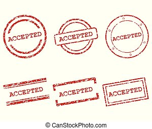 Accepted stamps