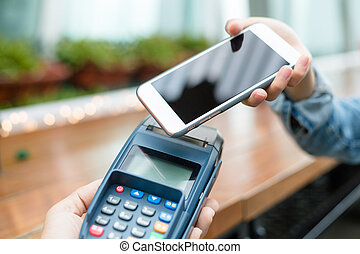 Accepting payment from customer through NFC