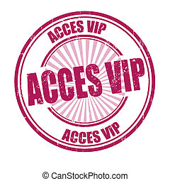 Acces vip stamp