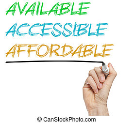 accesible, affordable, aaa, disponible