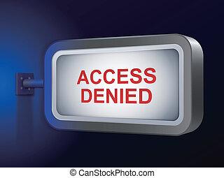 acceso, cartelera, palabras, negado