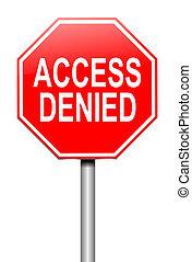 acceso, concept., negado