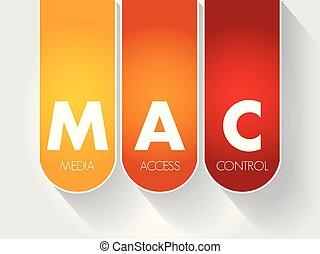 acceso, control, medios, mac, -, siglas