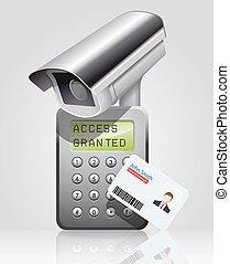 acceso, control, -, proximidad, lector
