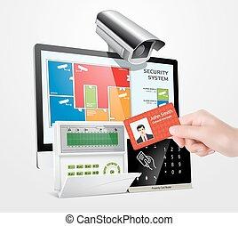acceso, control, sistema, -, alarma, zonas