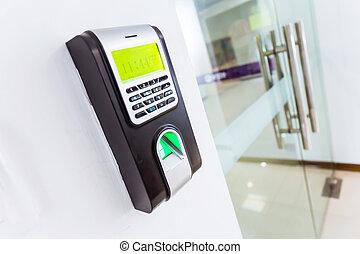 acceso, control, telclado numérico