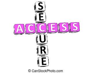 acceso, crucigrama, seguro