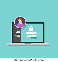 acceso, dirección, autorizar, software, authentication,...