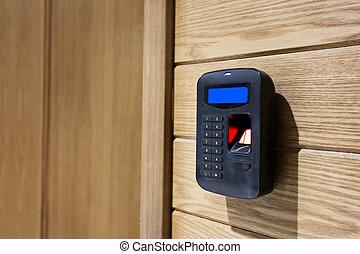 acceso, entrada, telclado numérico