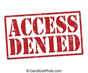 acceso, estampilla, negado