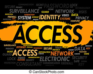 acceso, palabra, nube