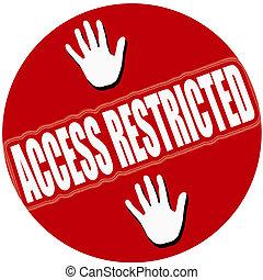 acceso, restringido