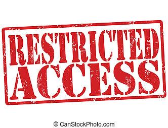 acceso, restringido, estampilla