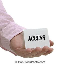 acceso, serie, -, señal