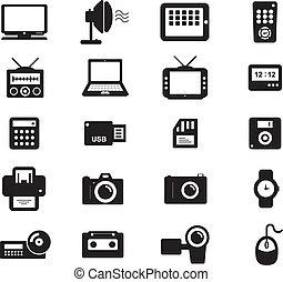 accesories, elektronowy, ikona