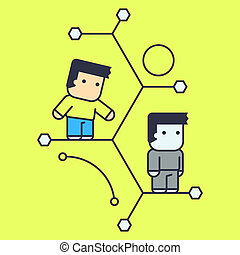 access and assistance in the social network. Conceptual...