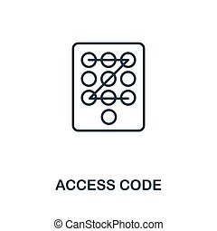 Access Code thin line icon. Creative simple design from...
