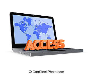 Access concept. Isolated on white.3d rendered.