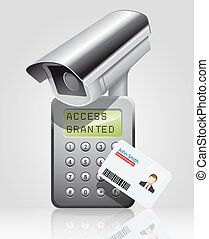 Access control - proximity reader with card and cctv -...