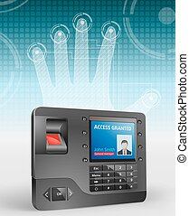 Access control system, fingerprint scanner and Mifare ...