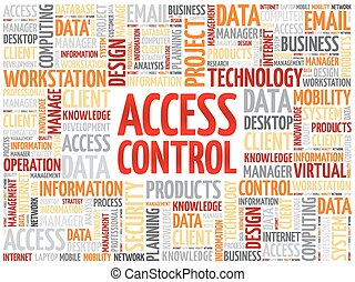 Access control word cloud