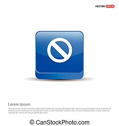 Access Denied Icon - 3d Blue Button