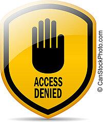 Access denied vector symbol