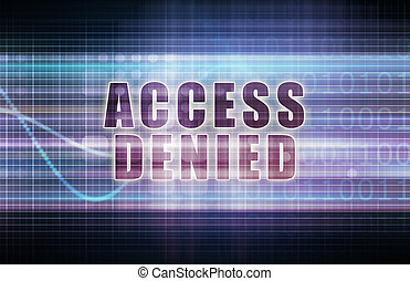 Access Denied on a Tech Business Chart Art