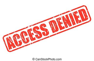 Access denied red stamp text